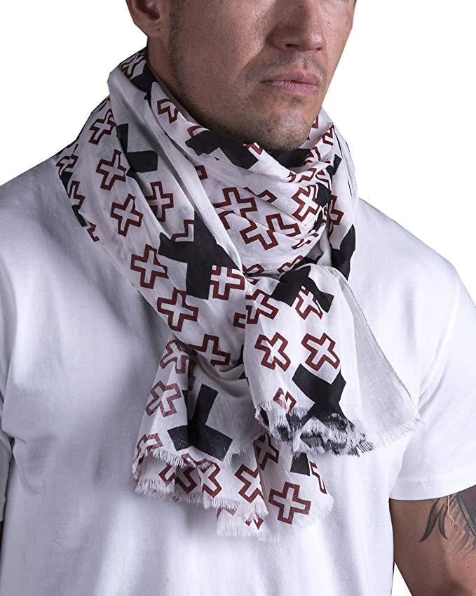 Men's No Fear Cross Adventure Natural Cotton Scarf