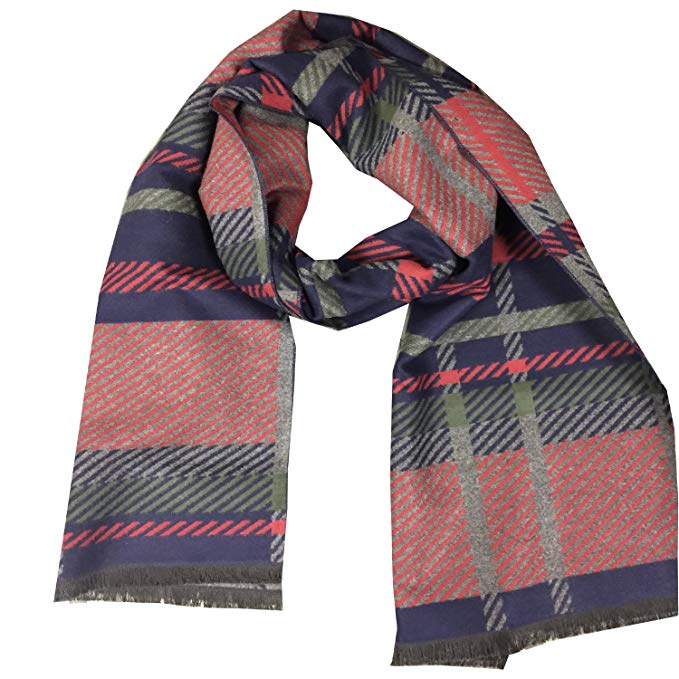 Men's Long Cashmere Feel Scarf, Fall and Winter Warm Scrves
