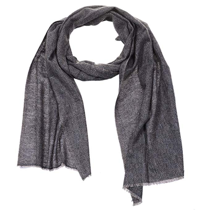 High Grade Cashmere Pashmina Plain Natural Muffler | Men & Women | Imported from India!