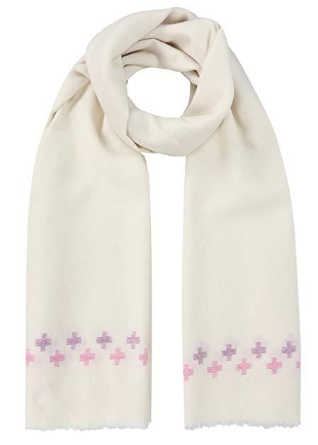 Handwoven Oversize Blanket Scarf with Crosses 100 X 200cm