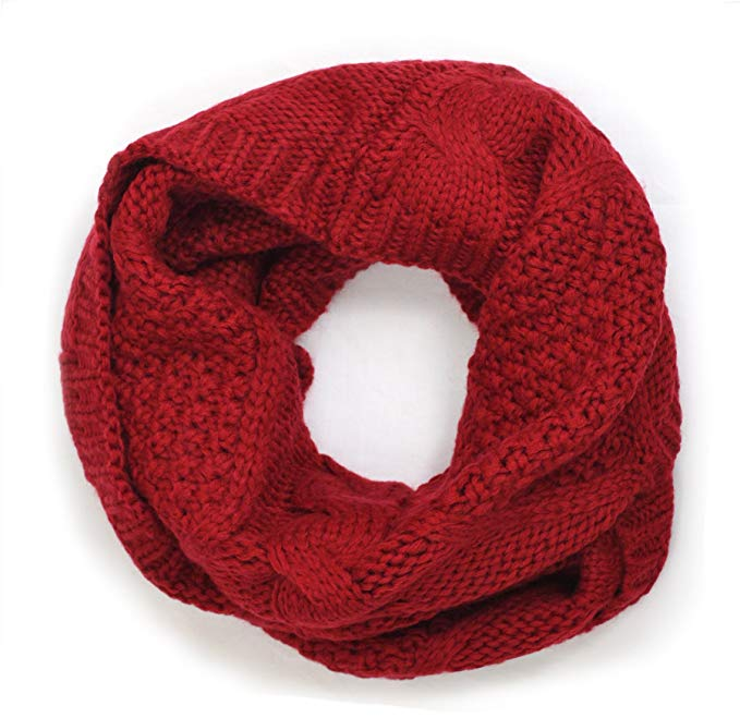 Cozy Chunky Knitted Infinity Scarf for Women / Men