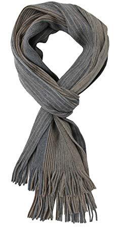 Knit Scarf Men's Scarf Warm & Soft Rotfuchs Unisex Wool Striped Multi Multicolored 205 x 27 cm Made in Germany