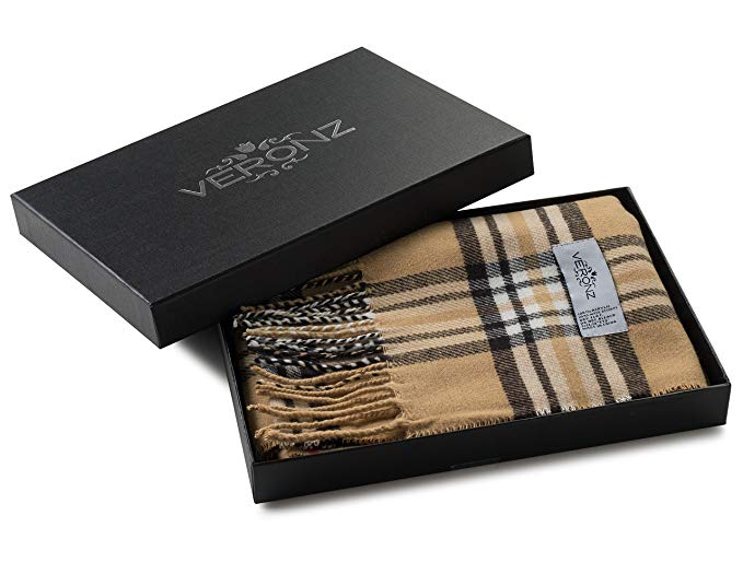 Veronz Super Soft Luxurious Classic Cashmere Feel Winter Scarf With Gift Box