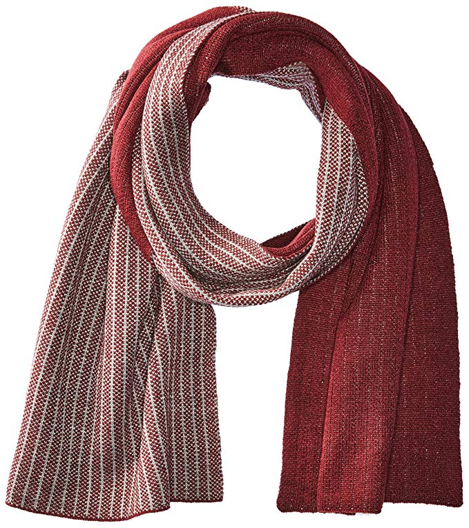 Calvin Klein Men's Bi Color Reversible Scarf
